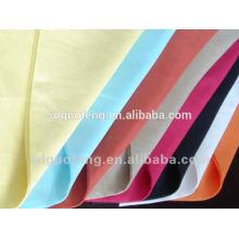 Tela de la fábrica de China T / C 80/20 90/10, popelín teñido llano del algodón polivinílico