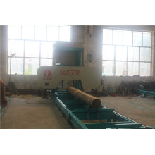 Diesel engine horizontal bandsaw mill log cutting