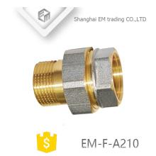 EM-F-A210 NPT-Gewinde Nickel Messing Adapter Pex Rohrverschraubung