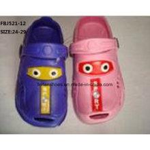 Dernières conception EVA jardin chaussures pantoufles de mode pour les enfants (fbj521-12)