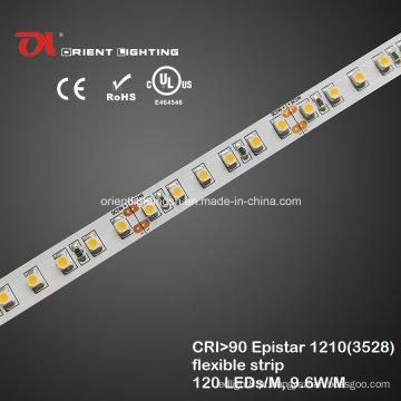 UL High CRI Epistar 1210 LED de alta densidade com faixa LED