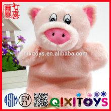 Реалистичный стиль дизайн чучела животных игрушки, плюшевые розовая свинья форма рук кукольный для детей