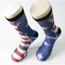 3D Printed Socken 360 Großhandel Digital Print Männer Fußball Socken Sublimation Basketball Socken