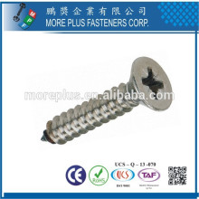 Made in Taiwan M2.7X7mm Miniature Nickel Phillips Countersunk Head Self Tapping Screws
