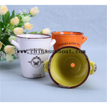 Enamel Decoration Small Lovely Flowerpot