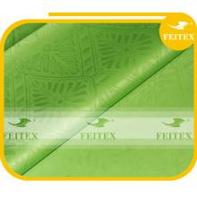 100% coton brocade citron vert stock bazin tissu mode africaine brocart pour la robe de dame