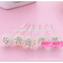 newest design jewelry crystal alloy jewelry hair pin