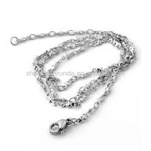 Accessoires de bijoux de mode pour collier en chaîne en acier inoxydable pour hommes avec des étoiles