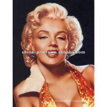 Impresiones famosas de la estrella de Marilyn Monroe