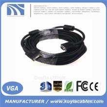 VGA de alta calidad de HD15pin 3 + 6 de KuYia al cable del VGA para el proyector, LCD 1.5m, 1.8m, 2m, 3m, 5m, 10m, 20m, 30m, 40m, 50m, 60m ...