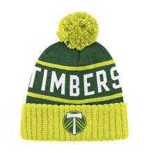 Chapeau en mousse acrylique en jacquard en tricot personnalisé et badge à broder