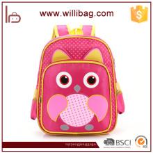 China-Lieferanten-Großhandelseulen-Karikatur-Kind-Taschen für Kinderschultasche