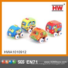 Мультфильм Красочные 10 см оттянуть ребенка Мягкие игрушки автомобилей 4PCS / BOX