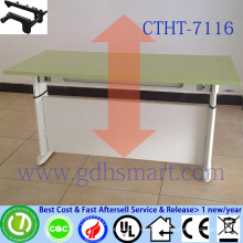 white office table pretoria table manual crank height adjustable desk office desk adjustable height study desk