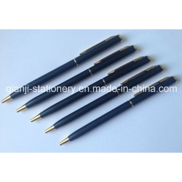 Caneta Metal preta Twist Metal caneta Metal caneta com Laser logotipo (M1004)
