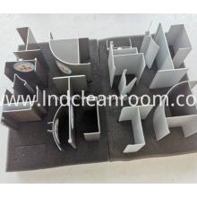 Profilés en aluminium de haute qualité pour salles blanches