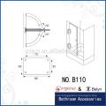 Bisagra de pivote de puerta de ducha de vidrio biselado de 90 grados