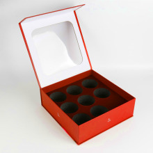 Magnetic Cardboard Packaging Red Box For Bath Bombs