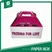 Boîte faite sur commande de paquet de transporteur de chat d'animal familier