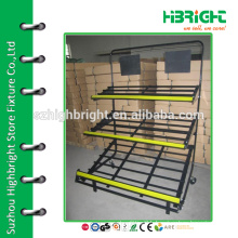 three tiers fruit and vegetable display racks for new store
