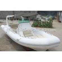luxury fiberglass hull boat HH-RIB730B with CE
