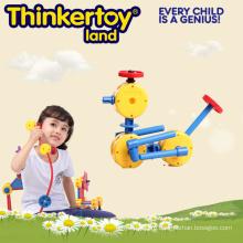 Интеллектуальные и образовательные строительные блоки Пластиковые игрушки