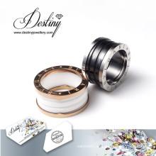 Destino joyas cristales de Swarovski anillos de cerámica del anillo