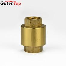 Gutentop alta qualidade água vertical mola Flap Brass Check Valve com núcleo de bronze
