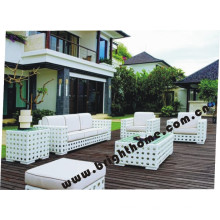 Flower Weaving Rattan Outdoor Furniture Sofa Set Bp-838