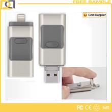 Promocionais Custom Metal OTG USB Flash Drive para iPhone