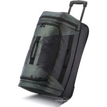 Large Capacity Storage Cloth Travel Long  Boarding Trolley Luggage Duffle Bags With Two  Wheels