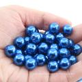 La perle lâche en plastique environnementale pourrait adapter le trou droit gros en gros toutes sortes de perles rondes abs de perle