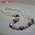 Neueste Designs Mode Barock Reis Perle Halskette (E130138)