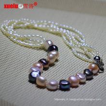 Dernières créations Fashion Baroque Rice Pearl Necklace (E130138)