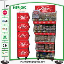 Malha de arame de promoção de supermercado empilhando a cesta de exibição