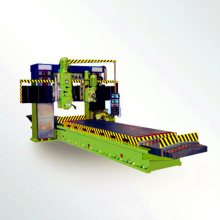 Gantry type milling machine for metalworking