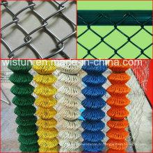 Clôture galvanisée à mailles losangées et clôture à mailles de chaîne revêtues de PVC et clôture grillagée en diamant
