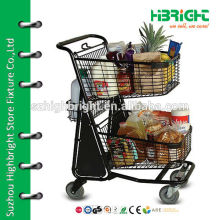 powder coated steel shopping cart