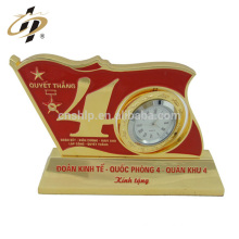 Professional Cheap Custom clock metal decorative souvenir birthday gift trophy cup for boyfriend