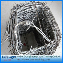 China Electric verzinkt Stacheldraht, Stacheldraht Eisenzaun Fabrik