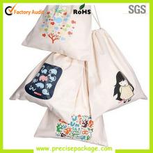Reusable Cotton Drawstring Bag with Custom Printing (PRD-815)