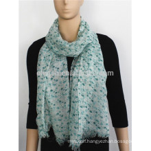 2015 Classic Small Flower Printed Acrylic Scarf