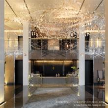 Lustre de luxe de shopping personnalisé design charmant classique