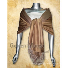 Double Face solid color Pashmina viscose Shawl