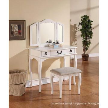 Tri Folding Mirror Wood Bathroom Vanity hotel wooden dresser