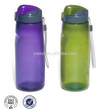 garrafa de esporte de plástico com tampa de rosca