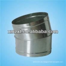 Prensa de acero inoxidable accesorios 15 grados conducto curva