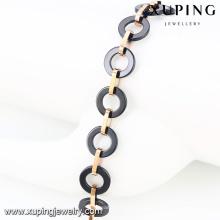 74604-Wholesale kostbarer Schmuck italienischer Schmuck Stahl Gold Armband & Armreifen