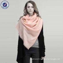 2015 hiver automne couleur unie sergé 15 couleurs haute qualité 100% pur laine écharpe SWW716 grande laine écharpe en gros