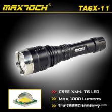 Maxtoch TA6X-11 Durable Lumen élevé T6 18650 élément LED torche